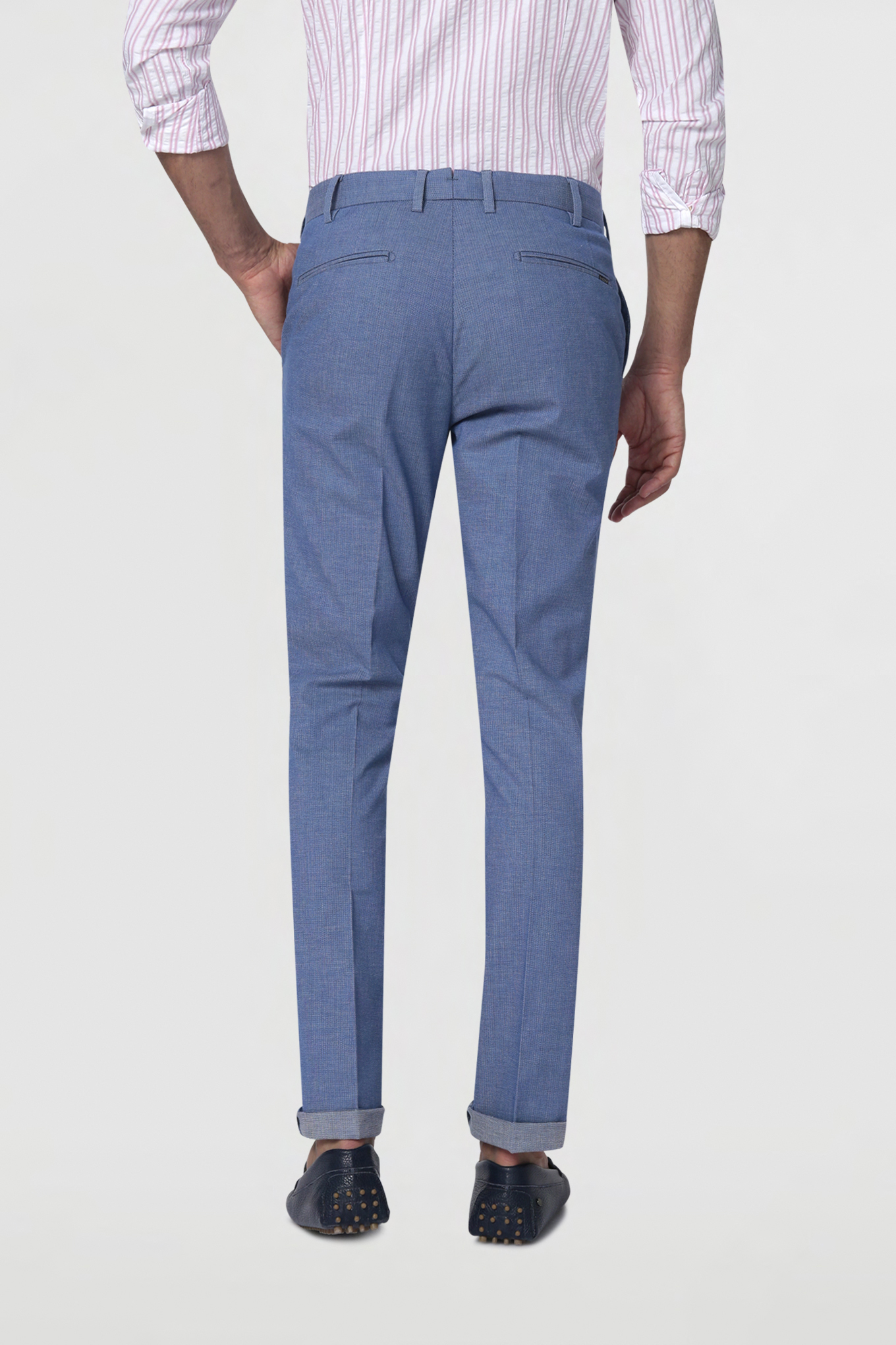 Chino Trousers Light Blue Casual Man