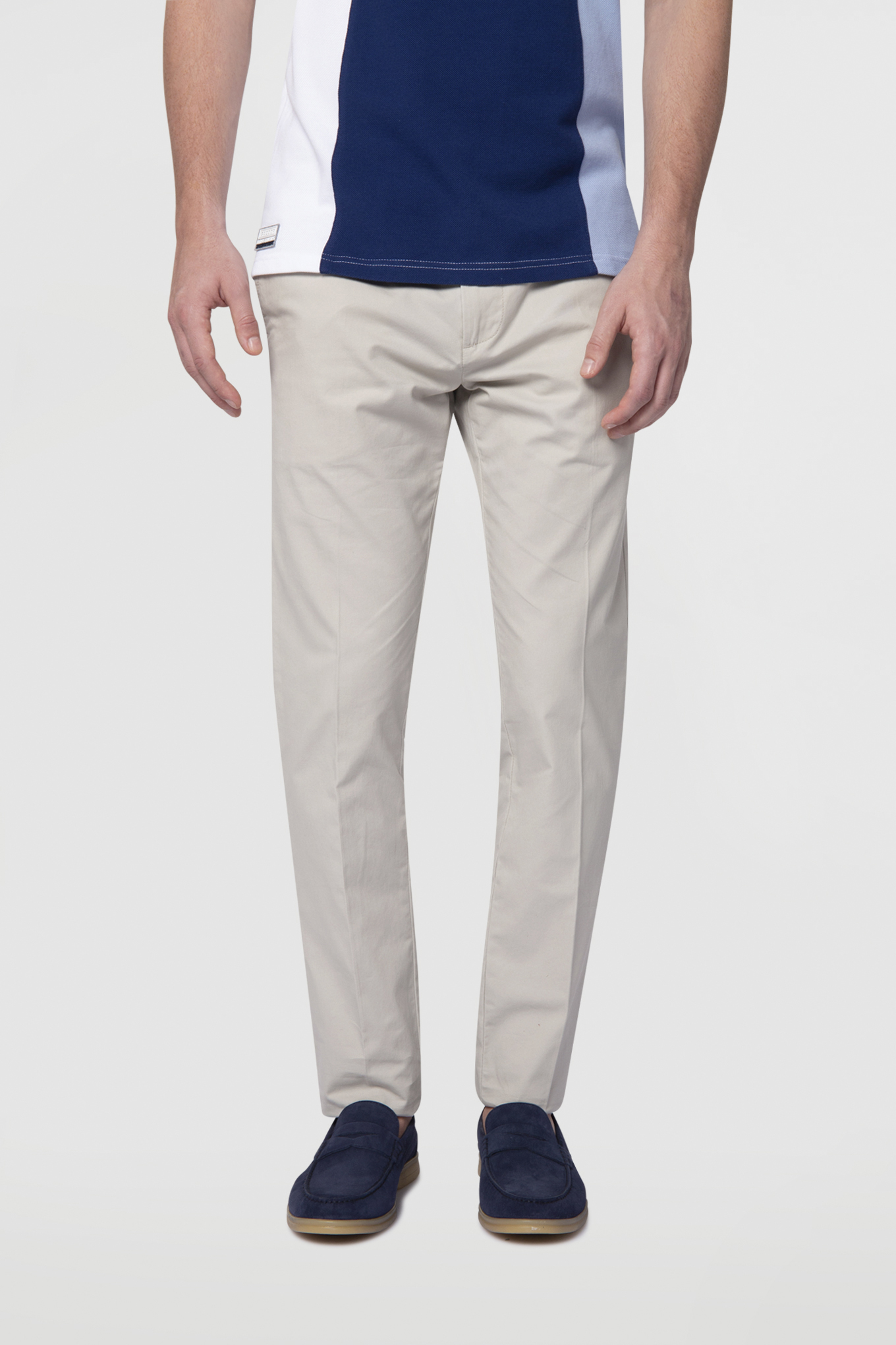 Chino Trousers Stone Casual Man