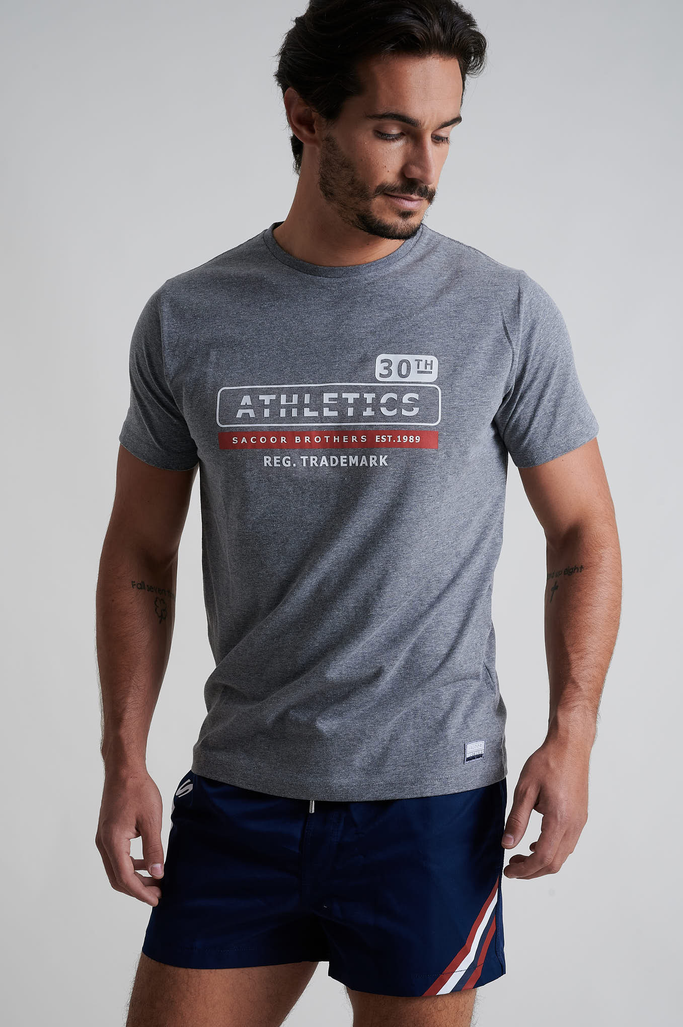 T-Shirt Dark Grey Sport Man
