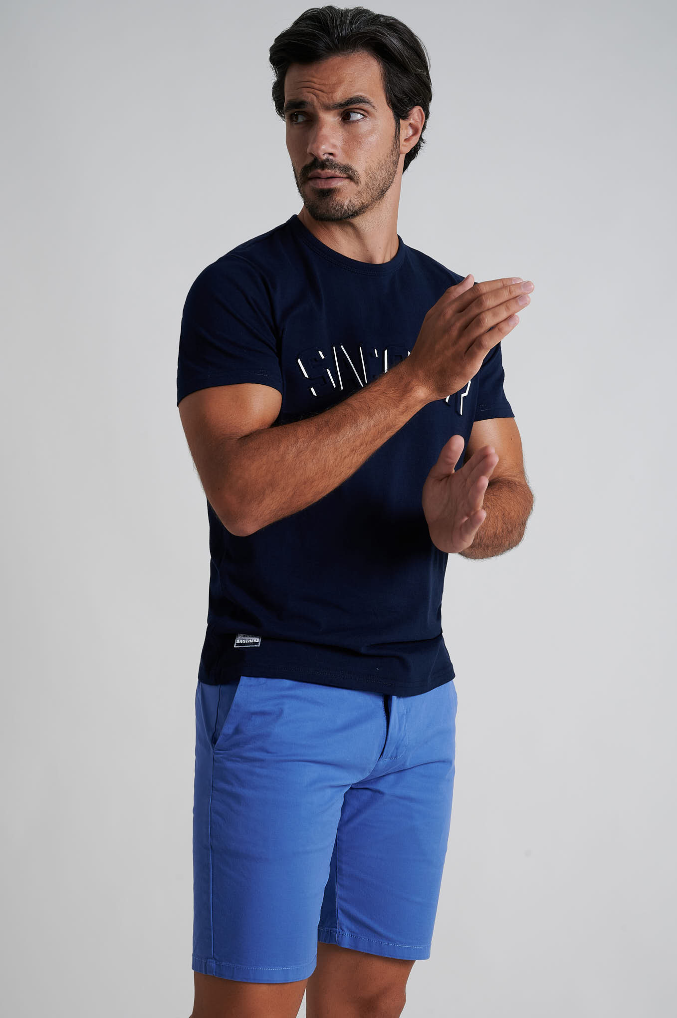 Bermuda Light Blue Casual Man