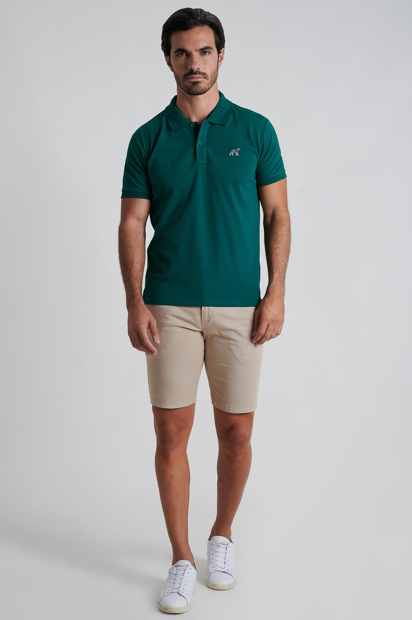 Polo Piquet Dark Green Sport Man