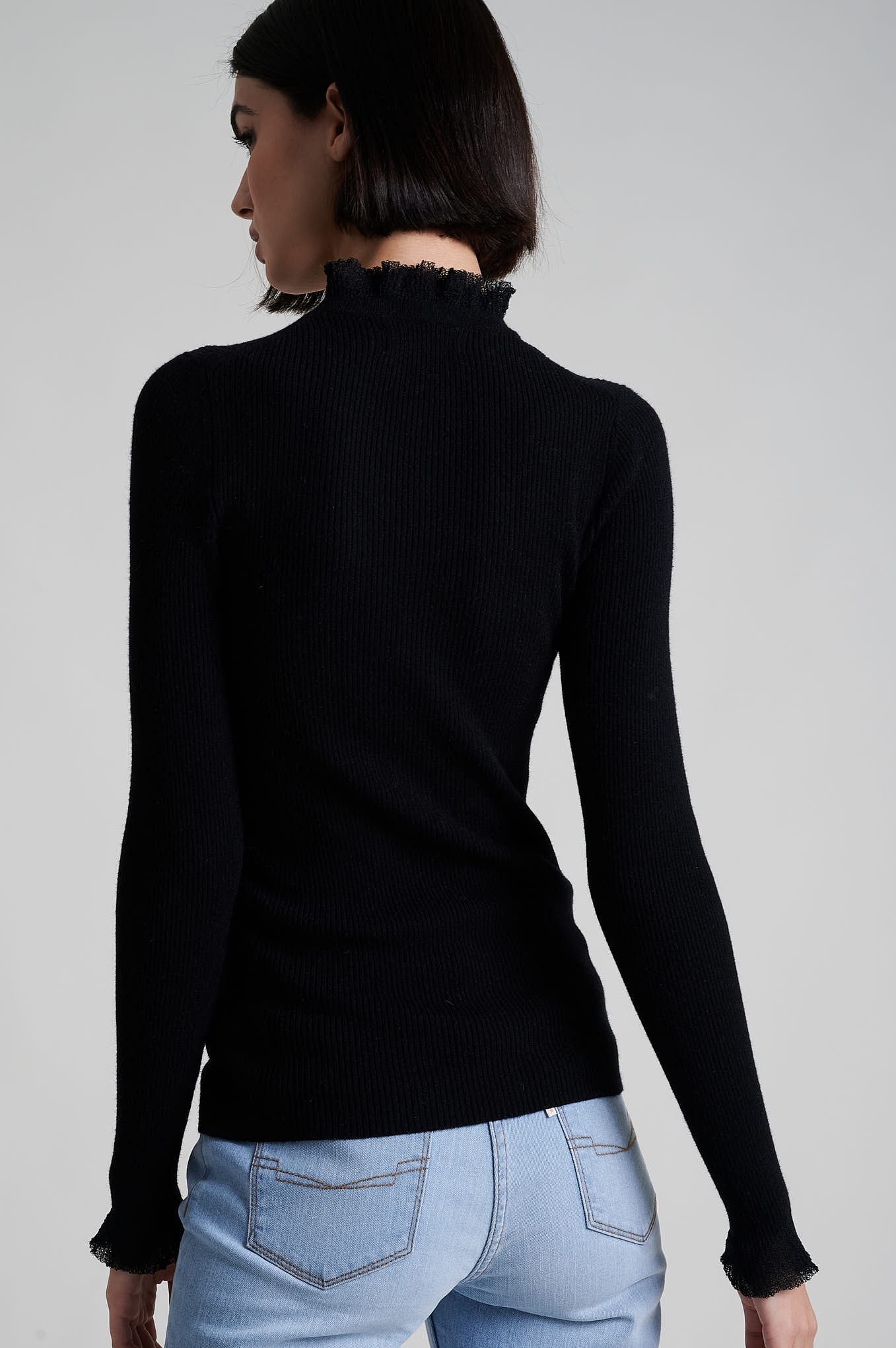 Sweater Black Casual Woman